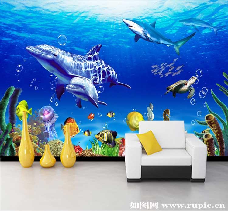 amc-59 海底世界鱼类风景画图