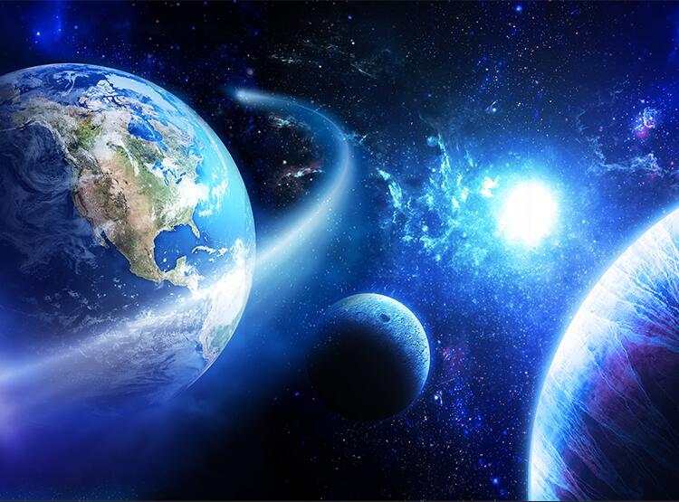 首页 02>02 最新素材 02>02 宇宙星空星球地球简约背景